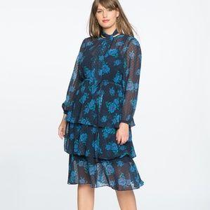 Draper James Eloquii Swiss Dot Tiered Dress NWOT